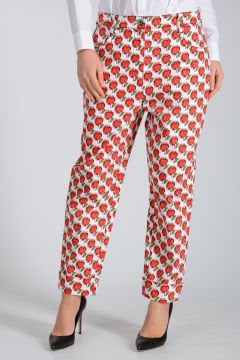 Cotton Blend Love Printed Pants