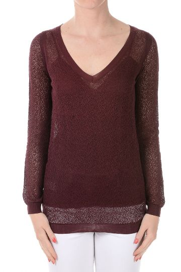 Silk and Cotton V neck sweater