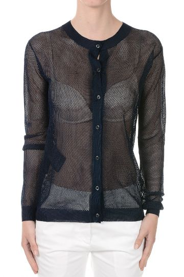 Round Neck Pierced Sweater