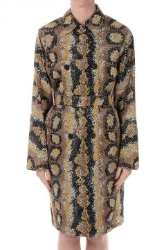 Printed Coat in Fabric