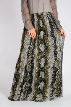 Chiffon Silk Long Skirt
