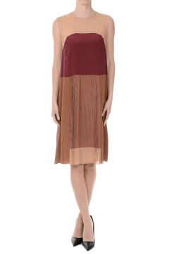 Tunic Silk Pleated Dress