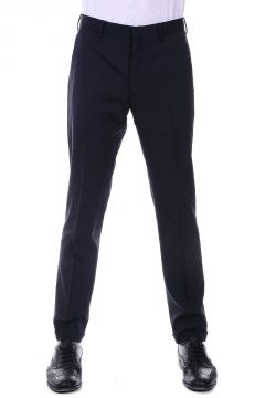 Pantaloni Gessati in Lana Stretch