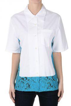 Popeline Cotton Short Sleeve Blouse
