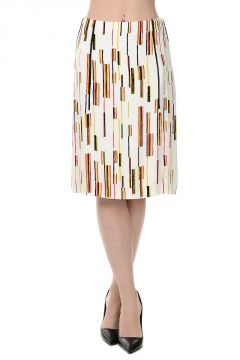 Printed Straight Viscose Skirt