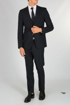 Pinstripe Stretch Virgin Wool Suit