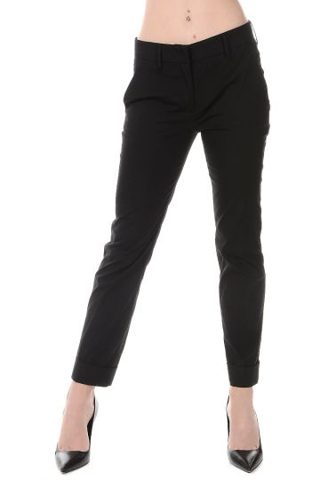 Pantaloni in Misto Cotone Stretch