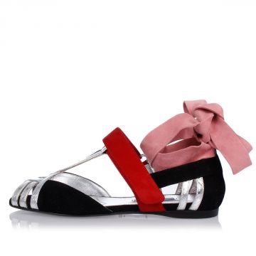 Ballerine Peep Toe con Dettagli in Ayers