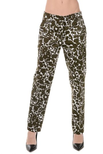 Printed Cotton Stretch Pants