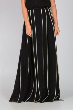 Silk CHIFFON PIPING Skirt