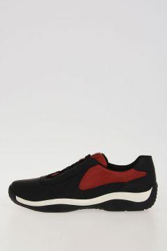 Sneakers Bi Colore Rosso Nero