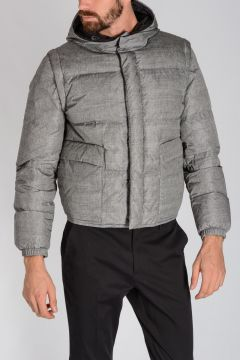Nylon Down Padded Jacket with Detachable Sleeves