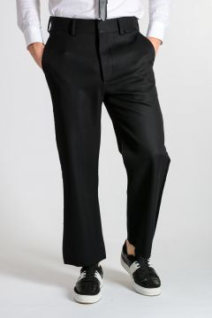 Wool Pants With Velvet Details