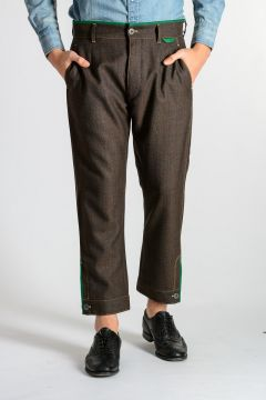 CHECK MOULINE Wool Pants