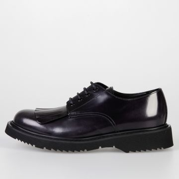 Leather Fringed Derby Shoes