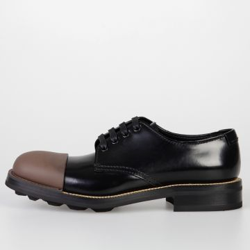 Bicolor Leather Derby Shoes