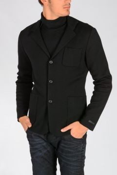 Virgin Wool Knit Jacket