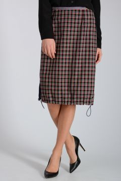 Checked 100% Virgin Wool Skirt