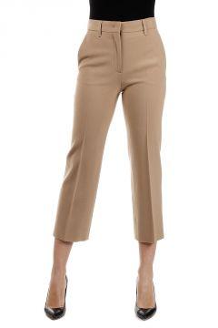 Virgin Wool Stretch Culotte Pants