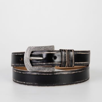 30 mm OLD SHOW Leather Belt