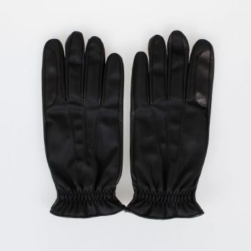 Techno and Leather Gloves