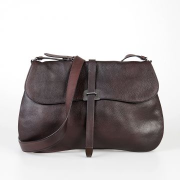 Grained Leather Shopping Bag