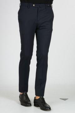 Pantaloni Super Slim Fit in Gabardina di Lana Stretch
