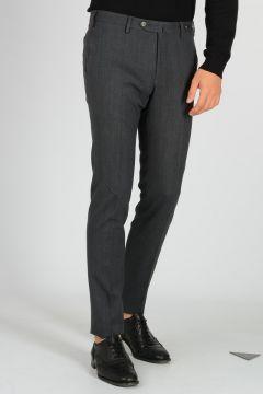 Wool Gabardine Super Slim Fit Stretch Pants