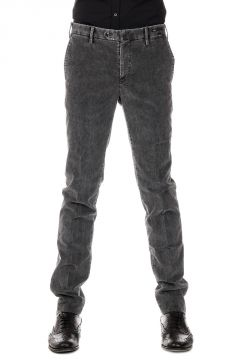 Pantaloni Super Slim Fit in Velluto Stretch