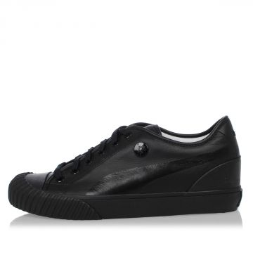 Sneakers Basse in Pelle e Tessuto