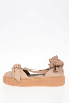 FENTY BY RIHANNA Leather BOW CREEPER Sandals