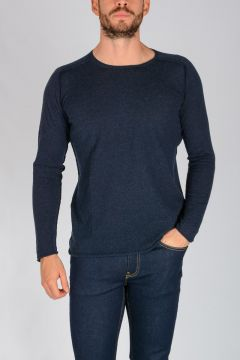 Extrafine Merino Wool Blend Crewneck Sweater