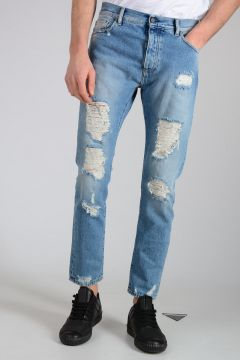 Jeans REGULAR FIT RIPPED Denim Destroyed 15cm
