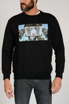 Printed Basket Sweatshirt