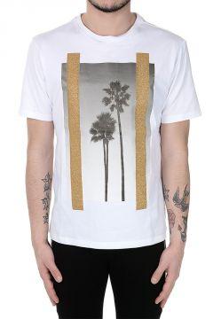T-Shirt in Jersey di Cotone con Dettagli glitter