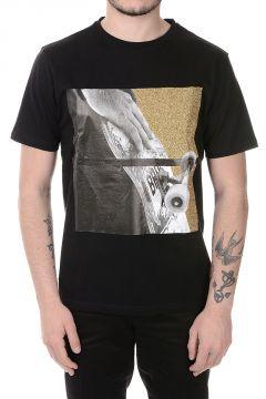 Glitter Detail Printed Cotton T-shirt