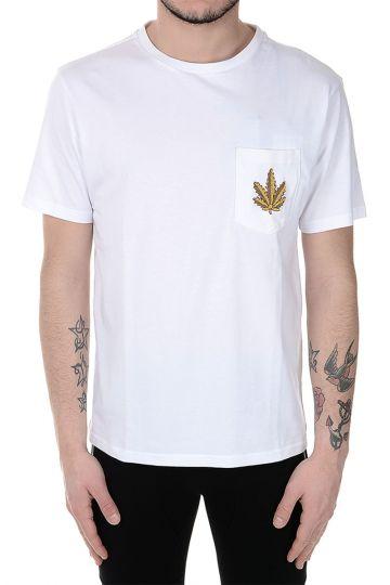 T-shirt in Cotone con Dettaglio ricamato