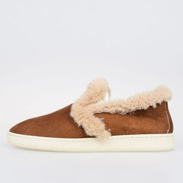 Leather SHEARLING SLIP ON Sneakers