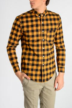 Checked Shirt With Metal Embroidery