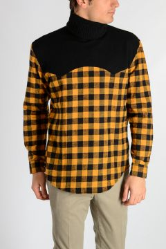 Checked Cotton Sweater