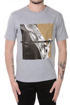 T-Shirt in Cotone con Dettagli glitter
