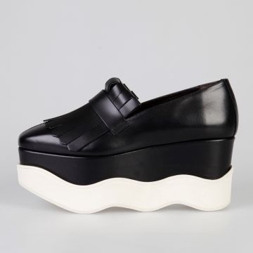 MARISES PERU Leather Wedge Shoes