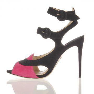 SENTINEL Sandalo in Camoscio Tacco 10 cm
