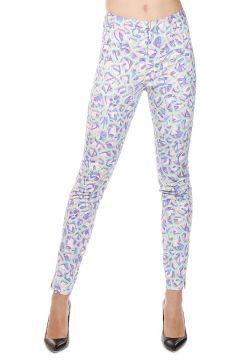 Pantaloni GEO Multicolor in Cotone Stretch