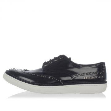 Sneakers in pelle con Coda di Rondine
