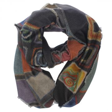 Printed Wool & Cashmere Scarf