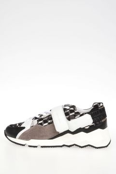 Leather and Fabric Sneakers