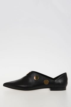Gold Tone Studded Loafer