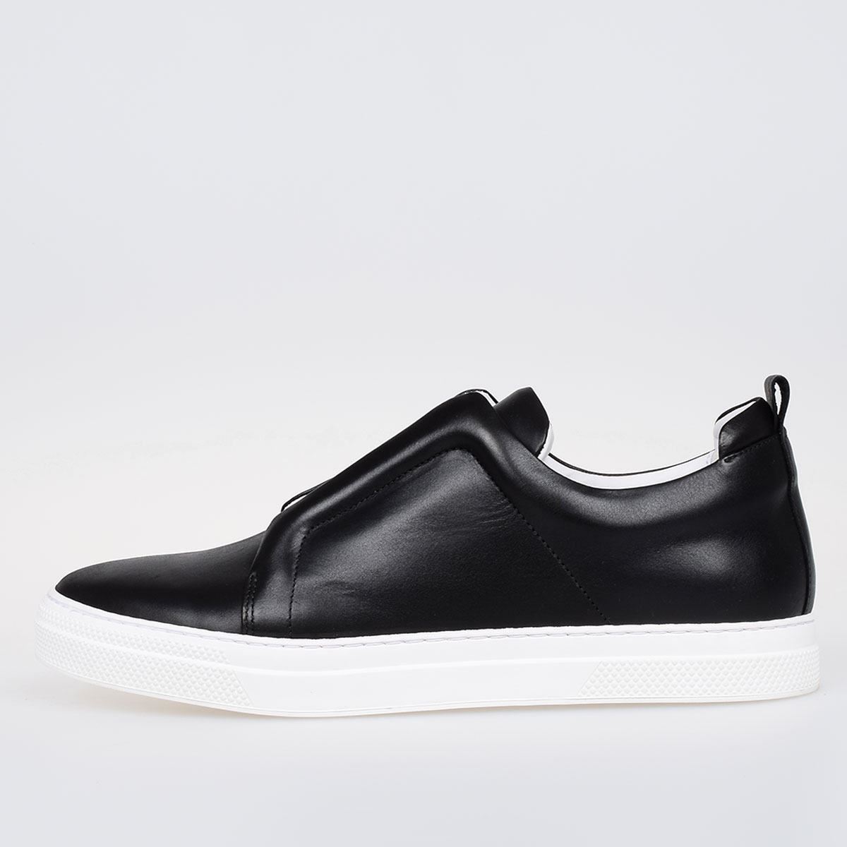 172a36bf Pierre Hardy Men Leather Banded Slip on Sneakers - Glamood Outlet