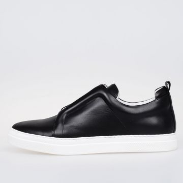 Leather Banded Slip on Sneakers